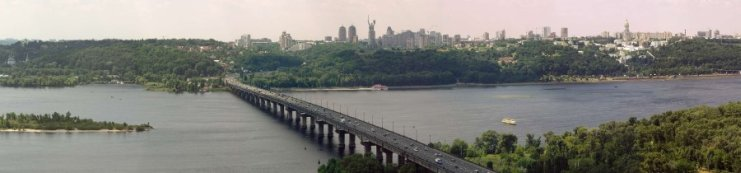Paton Bridge in Kiev